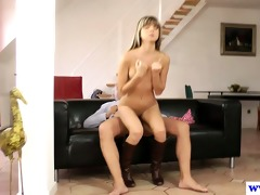 young european whore riding dick of an old fellow