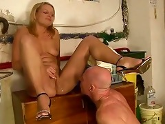 gal fucking and peeing on granddad