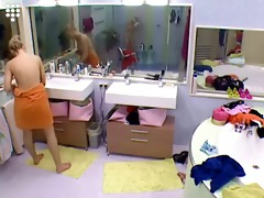 big brother nl hot blonde teen girl undressed
