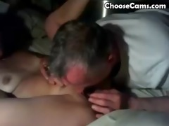 grandpapa giving grandma great oral stimulation