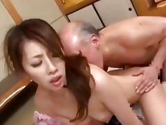 young japanese wife amp old man