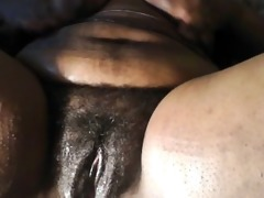 ebony bbw masturbating, just for you. (hairy)
