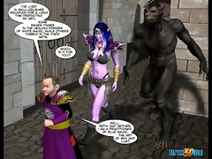 3d comic: world of neverquest. movie scene 3