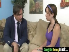 young daughter acquires pounded by big dark cock