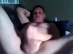 daddy home alone jerking his pecker