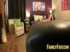 obscene mother in law teases her body