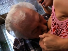 fortunate oldman bonks with super sexy babe erica