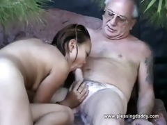 uncle jesse gets his cock sucked by oriental whore