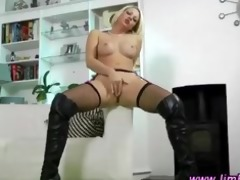 posh blond in nylons acquires hot