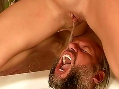 grandpa and juvenile hotty pissing and fucking