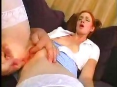 youthful redhead cutie fucked by older stud