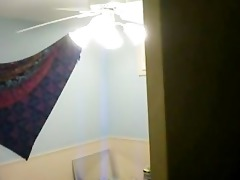 step-sister undressing hidden cam
