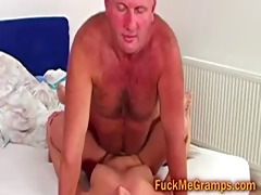 bald granddad fucks blonde college beauty