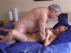 juvenile carla cox engulfing an old cock