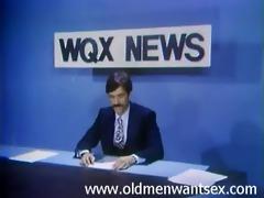 anchorman gets his rod sucked below the desk