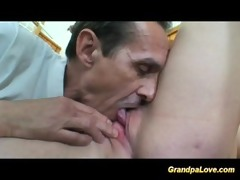 horny grandpa fucking her student and giving her