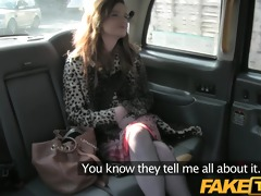 faketaxi red head gets drilled throughout the