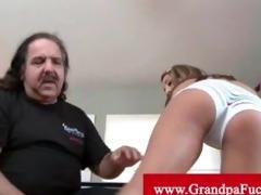 grandpapa jeremy eats youthful pussy