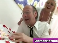 old guy fucks hawt younger babe