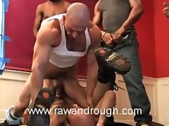 boyhous gets pissed on and drilled