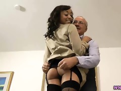 ebony dilettante in nylons drilled