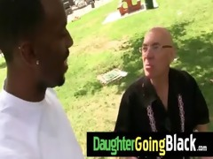 see how my daughter is drilled by a darksome dude