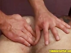muscle dad receives fingered