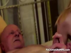 grandpa ben enjoys tasting fresh vaginas