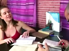 russian student cutie fucked by her old teacher