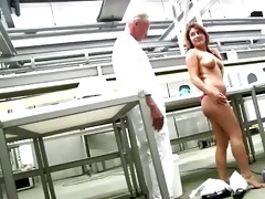 young booty redhead gets s garb in front of horny
