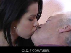 old man fucks marvelous lady on xmas ht