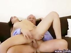 older guy fucking younger gal