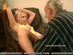 grand-dad and her blond grand daughter