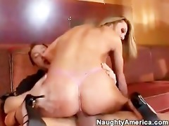 hawt hawt blonde in pink strap fucking a jock